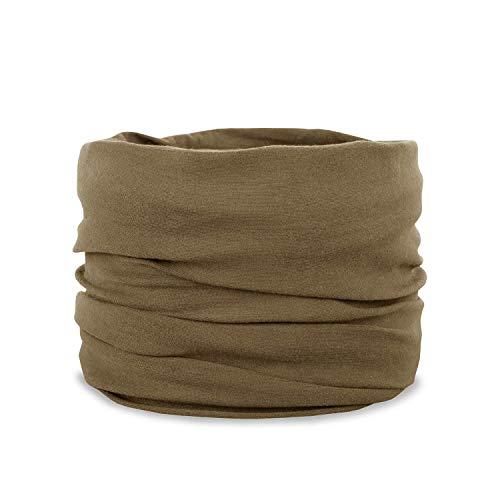 BW-ONLINE-SHOP Pañuelo multifunción Headscarf, bandana, pañuelo para el cuello, para hombre y mujer marrón claro Talla única