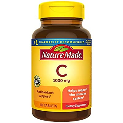 Nature Made Vitamin C 1000 mg Tablets, 100 Count to Help Support the Immune System† (Pack of 3)