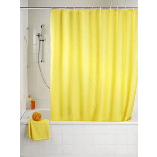Shower Curtain 5 New Solid Water Repellant Bathroom Liner Clear Yellow Colors