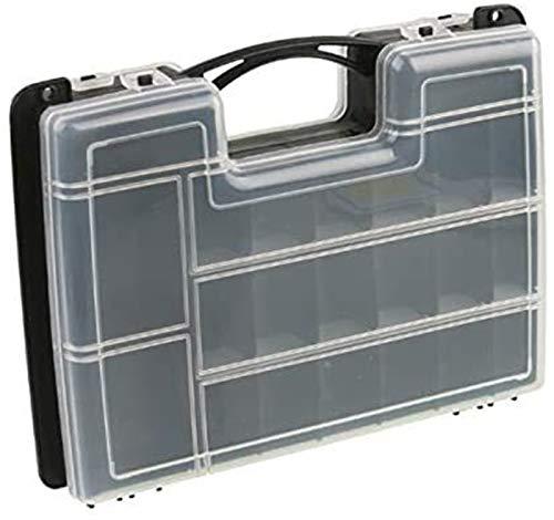 WYN Caja de Herramientas de Almacenamiento de Piezas Compartimento de plástico con Cubierta Hardware Herramienta Caja Clasificación de combinación Caja de Tornillo 27x20x7cm