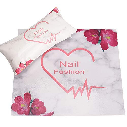 Noverlife Almohada para reposo de manos de cuero suave para manicura, cojín y almohadilla para brazo de salón de uñas, soporte de mano para mesa