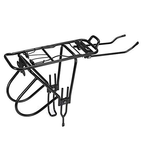 Bicicleta trasera Rack 60 kg aleación trasera Bicicletas Alforjas Carga Rack Carrier Bolsa de equipaje Ciclo Montaña MTB para Ciclismo Camping y Viajes Deportes