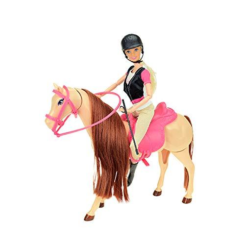 Toi-Toys 04114A - Teenagerpuppe LAUREN mit Pferd, Reiterpuppe und Pferd mit bewegbaren Beinen