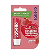 Labello Acondicionador Labial Strawberry Shine, Suave e hidratante, Aroma de Fresa