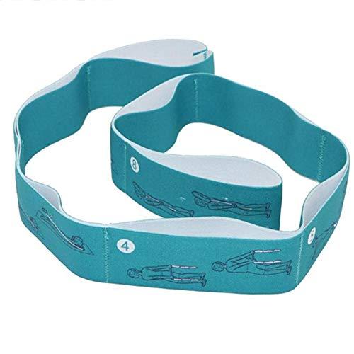 aolongwl Bandas de resistencia Yoga Stretch Resistencia Banda Adulto Alta Elasticidad Multi-segmento Cinturón Yoga Asistido Estiramiento Cinturón Yoga Fitness Producto Verde