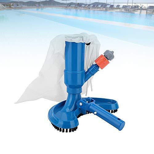 Limpiador de piscinas a presión, aspirador de limpiadores de piscinas portátiles, cabeza de cepillo + mango + conector rápido + bolsa de malla + entrada de agua, para limpiar piscinas, spa, e