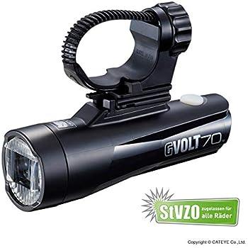 Cateye Unisex– Erwachsene Gvolt 70 Fahrradlicht, schwarz, Lux