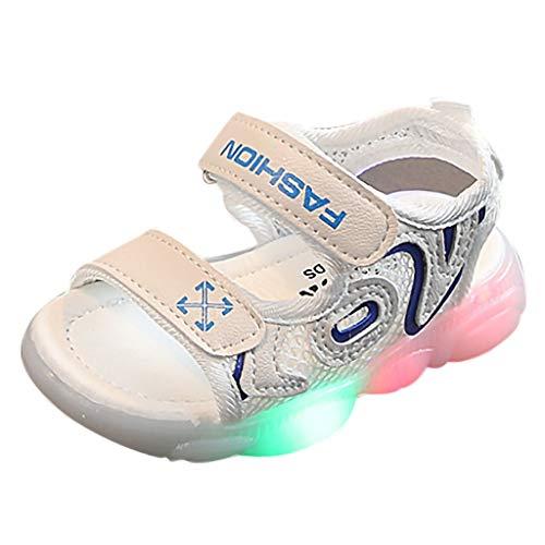 Jimmackey Sandali Estivi Bambina Neonata Scarpe Unisex Scarpe LED Luminosi Scarpe con Le Luci Accendono Scarpe Sandalo Bambina con Chiusura in Scarpine Sandali Punta Aperta Bambina