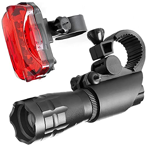 Super Bright Bike Light Set Powerful Led Front Headlight and Back Taillight Waterproof Mountain Road Bicycle Lights