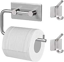 Nifogo toiletrolhouder zonder boren - zelfklevende toiletrolhouder, roestvrij staal wc-houder, wc-houder, rolhouder, kloro...