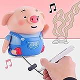 Jouet de Voiture, Robot inductif Jouets Porc Mignon Jouets de Voiture Pig Auto-Induction Suivre Ligne Jouet Animal Ligne pour Enfants Jouet Éducatif Cadeau