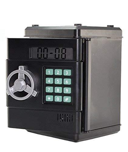 Soldela  Strong Box Hucha Digital con Combinación de 6 dígitos (Incluye función Reloj)