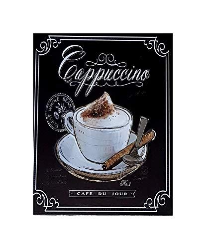 MR Cuadro de Madera Vintage Cappuccino, 40x30 cm