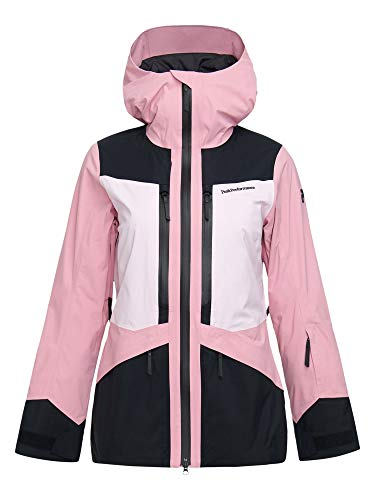 Peak Performance W Gravity 2L Jacket Colorblock-Lila-Schwarz, Damen Gore-Tex Regenjacke, Größe S - Farbe Cold Blush