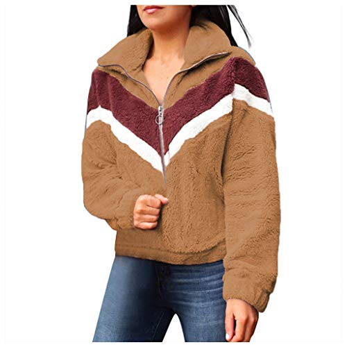 Great Deal! Hatop- Women's Sweatshirt Pullover Plush Fleece Sweatshirts Blouses Tops Long Sleeve Col...