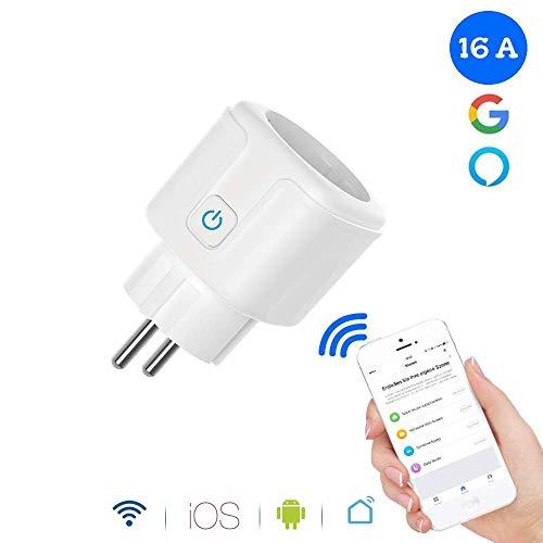 WLAN Steckdose Alexa, GoKlug Smart Steckdose Digital Zeitschaltuhr Stromzähler Wifi Steckdose Schaltbare Ihre Haushaltsgeräte von überall, kompatibel mit Alexa, Google Home, Smartphone gesteuert