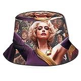 dongwan The Witches Fisherman Hat - Sombrero de pescador transpirable con impresión completa, sin deformación, adecuado para cualquier estación, unisex, parte superior plana, sombrero Bla