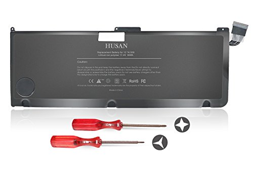 HUSAN A1309 Laptop Battery Compatible With MacBook Pro 17' A1297 (Only fit Early 2009 Mid 2009 Early 2010),fits MC226/A MC226CH/A MC226J/A 020-6313-C 661-5037-A (12000mAh)
