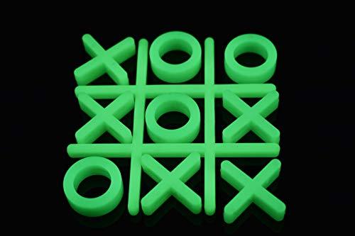 10 Piece Glow in The Dark Tic Tac Toe Game Set