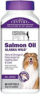 21st Century Alaska Wild Salmon Oil Dog 90 Softgels Veterinarian Formulated with Natural Omega-3 Fatty Acids for Healthy Skin and Coat