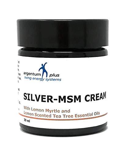 Silber-MSM Crème mit Zitronenmyrte und Zitronen Teebaum essentiellen Ölen - 30 ml