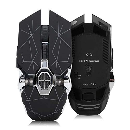 ASHATA Ratón inalámbrico para computadora con retroiluminación 1800DPI, Mouse para Juegos Blutooth,...