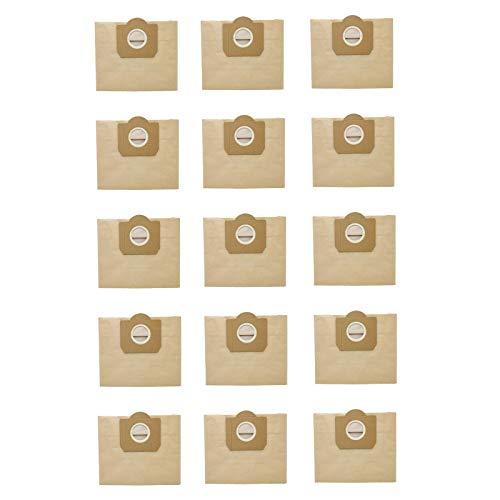 Huante Bolsa de Polvo de 15 Piezas para KARCHER WD3 Premium 3,300 M 3,200 WD3.500 P 6,959-130 Aspiradora