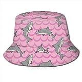 AOOEDMuchos Tiburones Lindos Hombres Mujeres Sombrero para el Sol Sombrero de Pescador Protección UV Senderismo al Aire Libre Pesca Gorra de Moda...