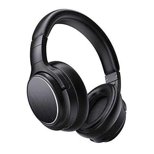 TONINI Active Noise Cancelling Bluetooth Headphones - Wireless ANC Over Ear Headphones, Stereo Sound Headphones with Comfortable Protein Earpads, Built-in Microphone for Airplane/Travel/Work/Home