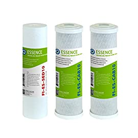 Apec water systems filter-set-es high capacity replacement pre-filter set for essence series reverse osmosis water filter system stage 1-3 1 apec water essence series filter-set-es is for roes-50, roes-ph75, roes-phuv75, roes-uv75-ss and roes-uv75 includes (1) sediment and (2) carbon block filters to protect and extend the life of the ro system 1st stage 5 micron polypropylene sediment filter to remove dust, particles and rust