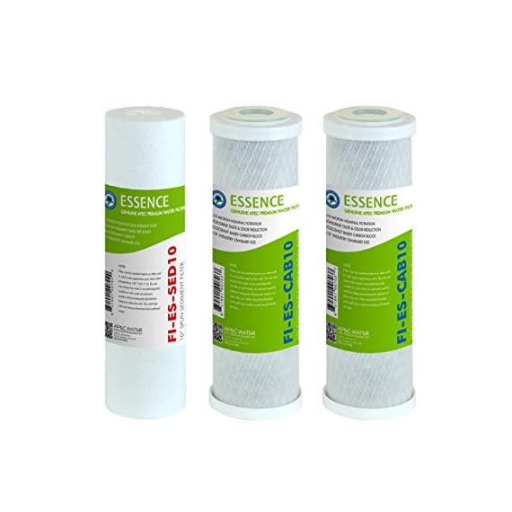 APEC Water Systems FILTER-SET-ES High Capacity Replacement Pre-Filter Set For Essence Series Reverse Osmosis Water… 1 APEC Water ESSENCE Series FILTER-SET-ES is for ROES-50, ROES-PH75, ROES-PHUV75, ROES-UV75-SS and ROES-UV75 Includes (1) sediment and (2) carbon block filters to protect and extend the life of the RO system 1st stage 5 micron Polypropylene sediment filter to remove dust, particles and rust