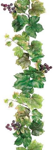 6' Grape Leaf Garland w Grapes 6 of Regular discount Pack Green Super-cheap