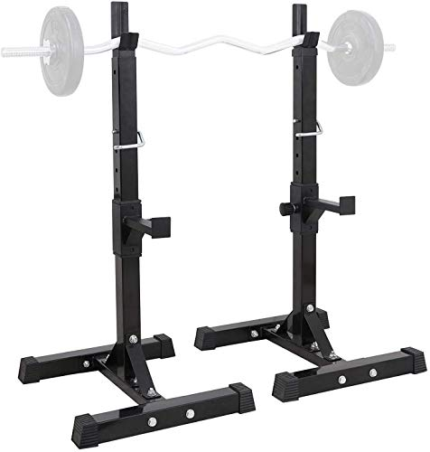ZYLHC Weight?Bench?Adjustable?Strength?Training?Bench, Barbell Rack Holder,Adjustable Squat Rack Barbell Free Bench Press Portable Dumbbell Rack Indoor Fitness Equipment Household Barbell Lifting Fram