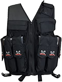 Maddog Sports Attack Tactical Paintball Vest with Tank and Pod Holder Attachments - Black