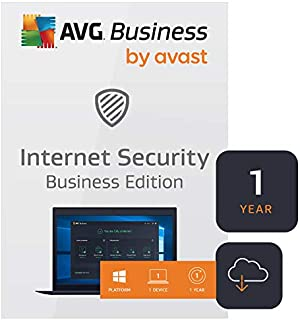 AVG Internet Security Business Edition 2020 | Antivirus protection for PCs, emails, servers & network | 1 PC, 1 Year [Download]