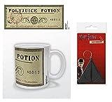 HARRY POTTER 1art1, Pozione Polisucco Tazza da caffè Mug (9x8 cm) E 1, Portachiave (6x4 cm)
