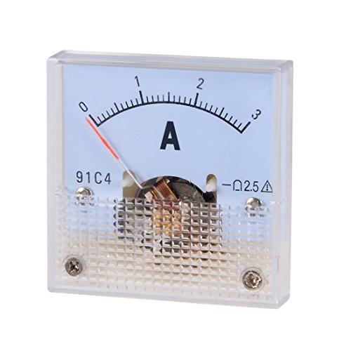 sourcing map 1 Stk Analoger Stromzähler 91C4-A Amperemeter für die Schaltungsprüfung DC 3A DE