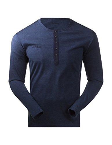 Bergans Puma t-Shirt Henley pour Homme Wool M Bleu - Bleu
