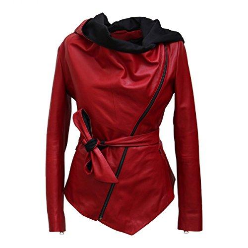 Hollert German Leather Fashion Lederjacke - EWA Damen Echtleder Jacke Größe XXL, Farbe Rot