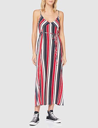 APART Fashion Damska sukienka Apart, letnia sukienka, długa, pasek, ramiączka spaghetti, szeroki krój, luźna sukienka