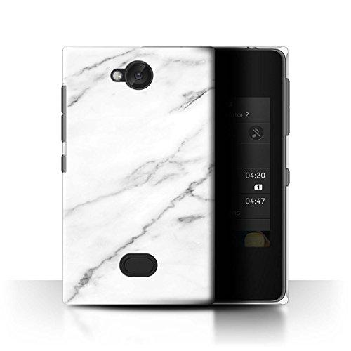 Personalizzato Marmo Custodia/Cover per Nokia Asha 503 / Etichetta Bianca Porcellana Design / Iniziale/Nome Caso/Cassa