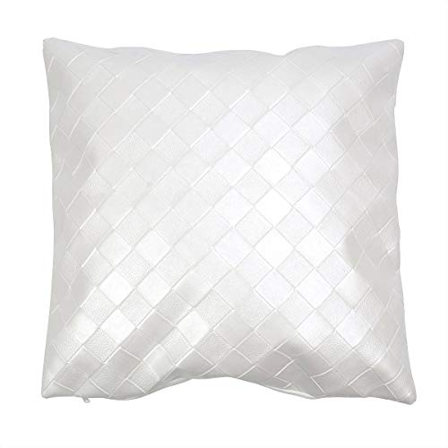 Gardeningwill Housse de coussin imperméable en polyuréthane blanc de 43,2 cm pour canapé, salon, décoration de la maison