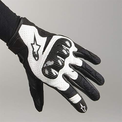 Guante de motocicleta de cuero ventilado, color negro y blanco Sz XXL Alpinestars SMX-1 Air V2