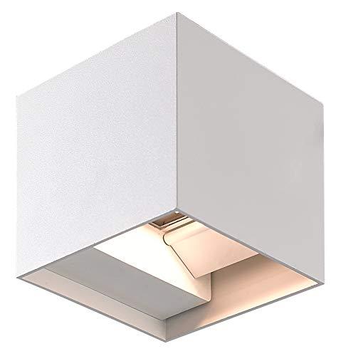 Applique LED Superia da 12W, Luce Naturale 4000K, Lampada da Parete per Interno ed Esterno, Illuminazione Moderna in Alluminio, Design Regolabile, ALI2REGN, Impermeabile IP54, Colore Bianco