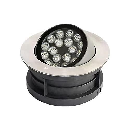 HETX7 Luces de paisaje de ahorro de energía Lámpara de pozo LED de 3 W Luz de suelo impermeable Luz de inundación Entrada de entrada Cubierta de escalón Foco de jardín enterrado Focos de suelo de ángu