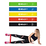 Boldfit Resistance Bands Mini Loop (Set of 5) Perfect for Toning & Home
