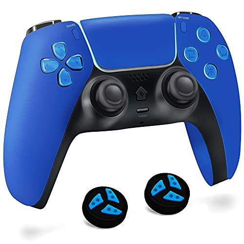 BRHE PS-4 Wireless Controller, Upgrade Rechargeable Gamepad Remote for Playstation 4/Slim/Pro Console/PC Game with Dual Shock, Touch Pad and USB Cable Thumb Grip Cap (Blue)