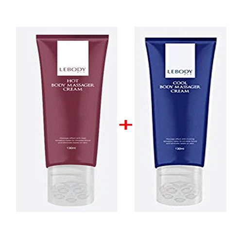 For Sale! LEBODY Fit Hot Body Massager Cream 130ml 1EA +LEBODY Fit Cool Body Massager Cream 130ml 1E...