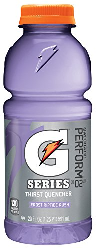 Gatorade 32488 Wide Mouth, Riptide Rush, 20 oz, Bottle (Pack of 24)