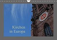 Kirchen in Europa (Wandkalender 2022 DIN A4 quer): 13 Kalenderblaetter mit Kirchen aus Europa (Monatskalender, 14 Seiten )